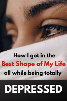Learn how to get motivated to exercise and diet when you are feeling depressed. In this article, I share my personal story about how I was able to redirect my sadness, grief and despair into fuel for my workout and discipline for sticking to my diet. Feeling Depressed, Feeling Sad, How Are You Feeling, Fitness Workout For Women, Health And Fitness Tips, Health Tips, Diet Motivation Quotes, Fitness Quotes, How To Get Motivated
