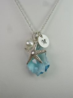 Beach Bridesmaid Jewelry - Set of 4 - Starfish Bridesmaid Necklace - Beach Wedding Jewelry - Bridal Party Jewelry by MesmericJewelry on Etsy https://www.etsy.com/listing/192126364/beach-bridesmaid-jewelry-set-of-4