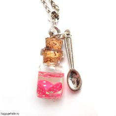 miniature bottle of glass with strawberries