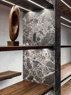 Shelving detail by Christian Halleröd Design - Frame Denim Store in Melrose Los Angeles