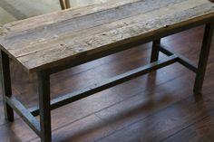 Pris: kr 1.895,- |  170 x 35 x 45 cm  | Materiale: genbrugt elmetræ/sort smedejern  Pris: kr 1.495,- |   100 x 35 x 45 cm
