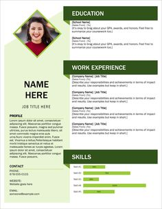 Get Template CV and Cover Letter Fresh Green for Free Here Free Cv Template Word, Online Resume Template, Free Printable Resume, Best Free Resume Templates, Free Professional Resume Template, Microsoft Word Resume Template, Microsoft Word Free, Resume Template Examples, Cv Examples