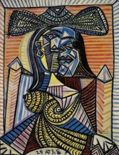 """Pablo Picasso """"Woman in Hat"""" Estate Signed Limited Edition Giclee Pablo Picasso Drawings, Picasso Cubism, Picasso Portraits, Picasso Paintings, Original Paintings, Oil Paintings, Landscape Paintings, Watercolor Artists, Oil Painting Abstract"""