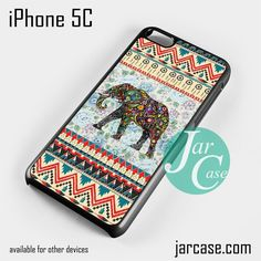 Aztec Elephant Vintage Floral Phone case for iPhone 5C and other iPhone devices