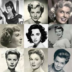 This image gives a good reference to the style in the late 1950's in terms of women's hair.