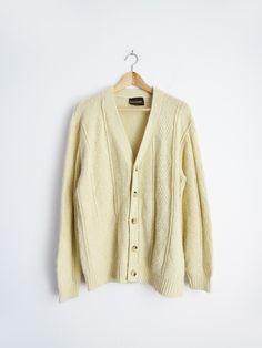 Grandpa Knit Cardigan // Vintage 1980's Cardigan SOLD