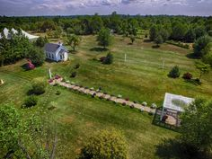 Drone view of our site at Apple Blossom Chapel and Gardens.