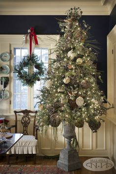 """I love how our """"woodsy"""" Christmas tree turned out last Christmas!"""