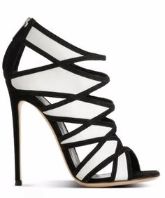 Gianvitto Rossi — black and white, graphic statement heels