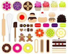 Pattern pastry by Aline Houdé-Diebolt, via Behance