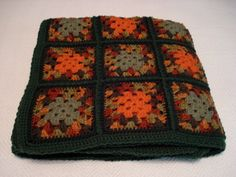 Fall Festival Autumn Colors Crochet Granny by HeartfeltHandicraft, $92.00