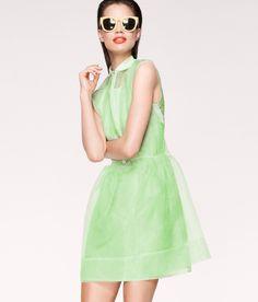 H+M sheer neon dress
