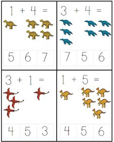 Dinosaurs Preschool, Preschool Crafts, Crafts For Kids, Addition Worksheets, Math Addition, Teaching Safety, Dinosaur Worksheets, Down Syndrom, Holidays With Kids