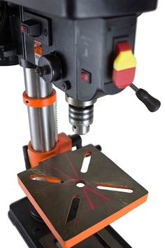 SKIL Black//Orange Portable Drill Press W// Built-In Laser 10 in.Cordless Set