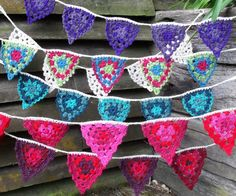 bunting inspiration (tutorial)--can I make this for a card I wonder  . . .