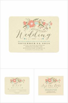 Cute Floral Wedding Collection