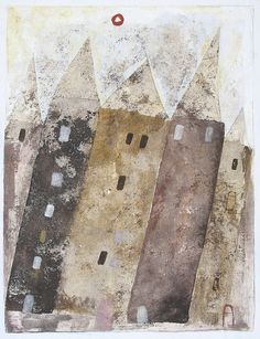 """Town homes"" www.etsy.com/ca/shop/ScottBergey"