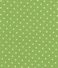 Green With Light Yellow 4mm Dots All Over Fabric. $4.95, via Etsy.