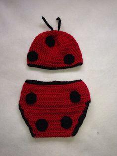 Ladybug set  by StunningCrochet on Etsy