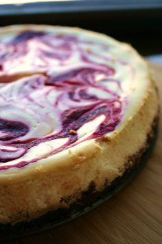 Cranberry orange swirl cheesecake #recipe