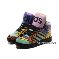 finest selection 16917 61c48 2012 Jeremy Scott X Adidas JS Flax Leopard Tongue Couple Shoes Hot Sell  Easy Travel High