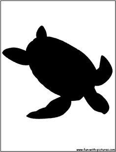 Green Sea Turtle Silhouette