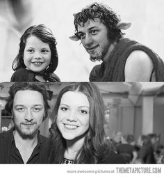 James McAvoy and Georgie Henley