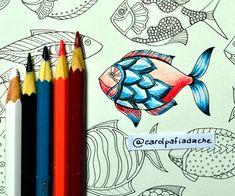 Atelier Gina Pafiadache: Oceano Perdido - Lost Ocean - Colorindo Peixes (2)