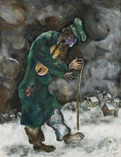 Marc Chagall「Vieux juif au violon」(1935)
