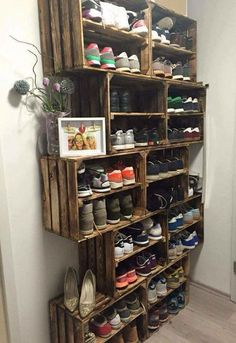 21 Diy Shoes Rack & Shelves Ideas More