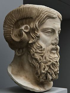Head of the Horned God, Zeus-Ammon.