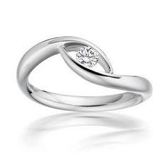 awesome Paul Spurgeon // Single stone brilliant-cut diamond ring // Contemporary Engagem...