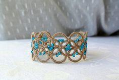 Nice colors! Tatted Perlen Armband hergestellt in Italien von Ilfilochiaro, €20.00