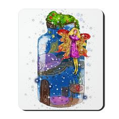 """Mousepad www.teeliesfairygarden.com This quality non-slip mousepad measures 9.25""""x7.75"""". Features rubber backing to keep your mousepad from sliding. #fairymousepad"""