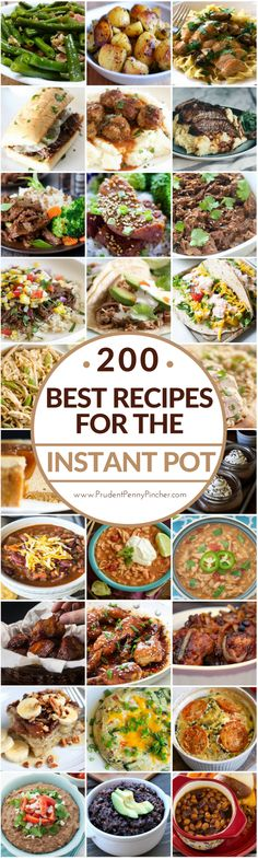 200 Best Instant Pot Recipes for Easy Dinners. Save time with these crock pot recipes. Perfect for when you don't want to do a lot of cooking. Power Cooker Recipes, Pressure Cooking Recipes, Crock Pot Cooking, Crock Pot Slow Cooker, Multi Cooker Recipes, Crock Pot Recipes, Hamburger Recipes, Hot Pot Recipes, Recipes Dinner