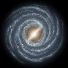 Artist's concept of the Milky Way Galaxy. Credit: NASA JPL. Hi-res image: http://www.nasa.gov/images/content/188404main_hurt_Milky_Way_2005-590_lg.jpg