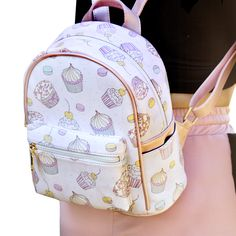 Kawaii Cupcake Backpack sold by Emerge. Shop more products from Emerge on Storenvy, the home of independent small businesses all over the world. Pastel Backpack, Small Backpack, Backpack Purse, Fashion Backpack, Backpack Keychains, Pretty Backpacks, Cute Mini Backpacks, Stylish Backpacks, Coach Handbags