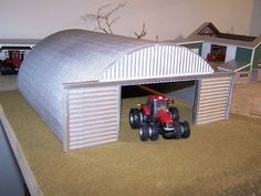 toy farm quanset | 64 scale Quonset-style shed/shop for a farm toy display