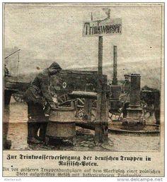 Zur Trinkwasserversorgung der deutschen Truppen in Ru - Po  -  Druck , entnommen…