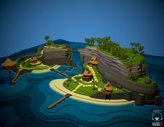 Island model by Polycount user Autocon