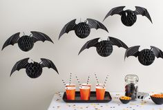 DIY honeycomb bats from #marthastewartcrafts. We love when things are easy.