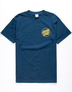 Santa Cruz OPUS FADE DOT Skateboard T Shirt NAVY XXL