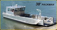 Boat Crafts, Water Crafts, Landing Craft, Aluminum Boat, Fishing Stuff, Boat Stuff, Bus Conversion, Small Boats, Catamaran