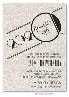 Corporate Invitation, Business Invitation, Invitation Wording, Invitation Cards, Invite, Art Deco Invitations, Event Invitations, 50th Anniversary Invitations, 40th Anniversary