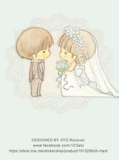 Ato Recover Amy e Tim Wedding Illustration, Kawaii Illustration, Couple Illustration, Chibi Couple, Couple Cartoon, Cute Images, Cute Pictures, Art Kawaii, Cute Characters