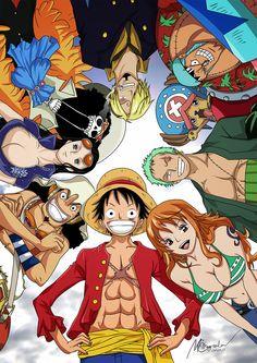 Strawhat Pirates, my favorites being Luffy, Nami, ........Zoro..... ♥ and Sanji!
