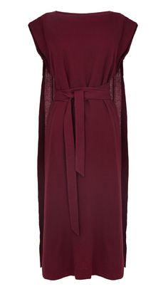 Tibi - Aurora Drape Tie Cape Dress. This would be easy to self draft and sew.. For the price they are asking- i think I will.