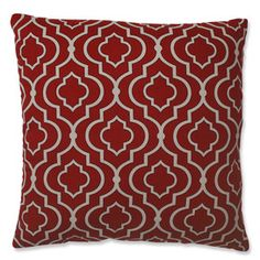 Leandra Pillow in Dark Red