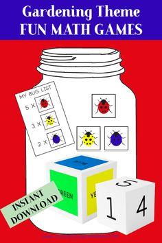Garden Theme Activity Bundle - Teaching Thinking Minds Emergent Literacy, Literacy Worksheets, Fun Math Games, Craft Activities, Critical Thinking Skills, Gross Motor Skills, Garden Theme, Dramatic Play, Kids Education