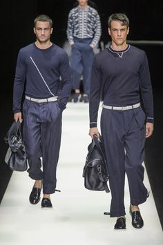 Défilé Giorgio Armani Printemps-été 2018 Homme - Madame Figaro